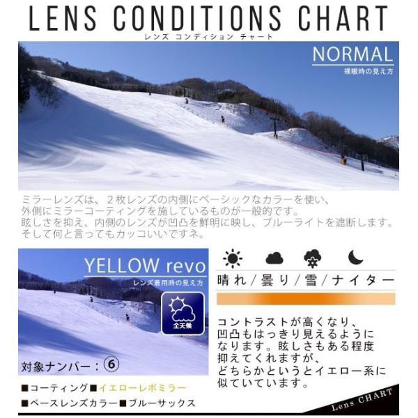 送料無料 スノーボード ゴーグル ケース付き フレームレス メンズ レディース ミラー 平面 レンズ SNOWBOARD GOGGLE スキー スノボ|elephant|06