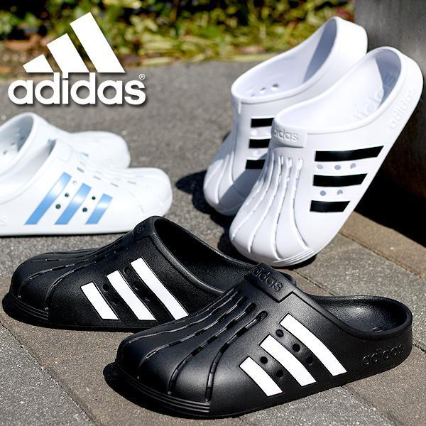 アディダスサンダルadidasメンズレディースADILETTECLOGUクロッグサンダルシューズ靴3本ライン2021春 FY89