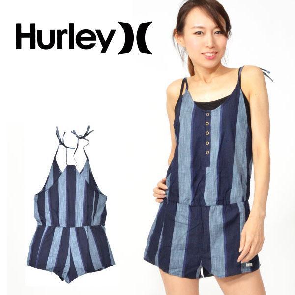 ドレス HURLEY ハーレー レディース STRIPE TIE ROMPER DRESS ノースリーブ タンクトップ サーフ サーフィン 野外フェス