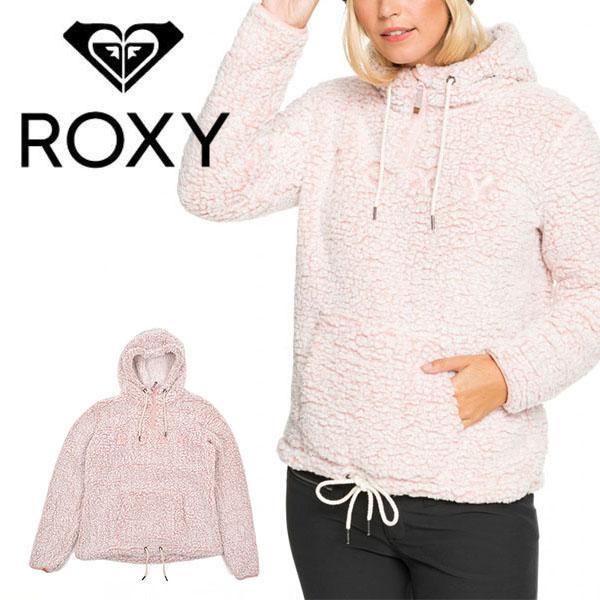 長袖パーカー ROXY ロキシー レディース PLUMA SHERPA ピンク フーディー スノーボード スノボ 2020-2021冬新作