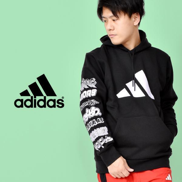 アディダス adidas メンズ M PACK プルオーバーフーディ スウェット パーカー トレーナー ビッグロゴ ウェア GLK53