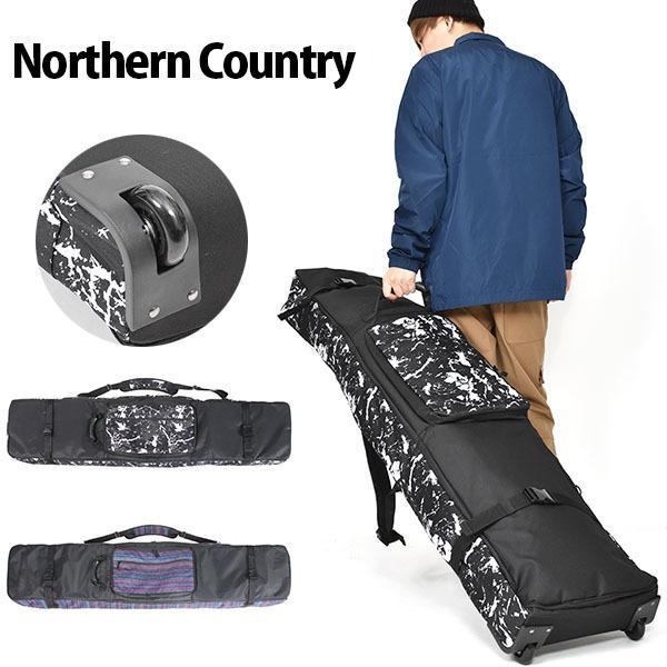 キャスター付き スノーボード ケース 4WAY バッグ Northern Country ボードバッグ 全面パッド入り 送料無料