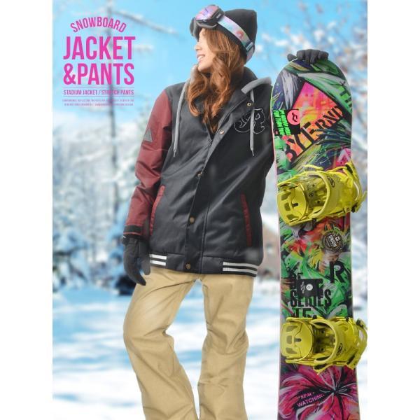 スノーボード ウェア 上下 セット レディース スタジャン ジャケット スノーボード  ウエア 女性 SNOWBOARD|elephantsports|02