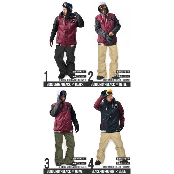 スノーボード ウェア 上下 セット メンズ スタジャン ジャケット パンツ スノーボード SNOWBOARD|elephantsports|03