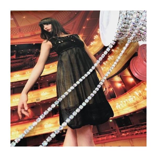 ラインストーン チェーン 衣装 ハンドメイド ダンス 縫い付け レオタード 装飾 elisabeth 02