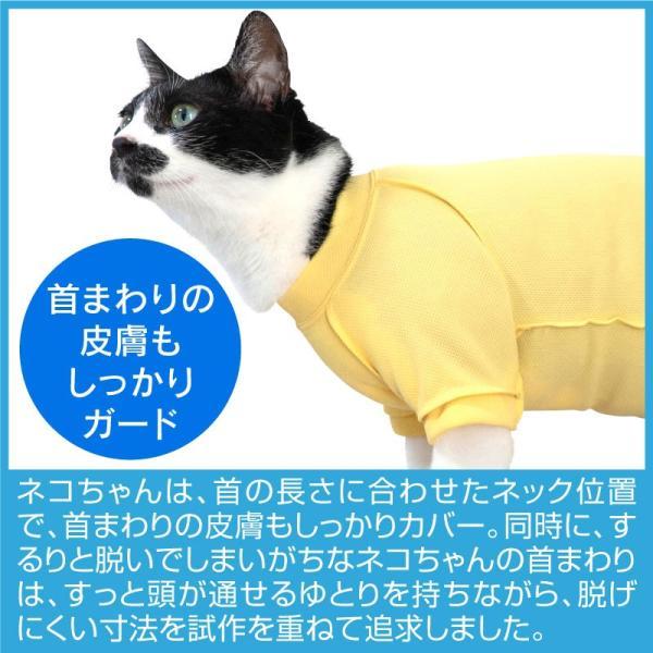 アトピー アレルギー 過剰グルーミング 舐め対策 獣医師推奨 皮膚保護服スキンウエアR 旧名エリザベスウエア 男の子雄 女の子雌兼用 猫用 a|elizabethwear|10