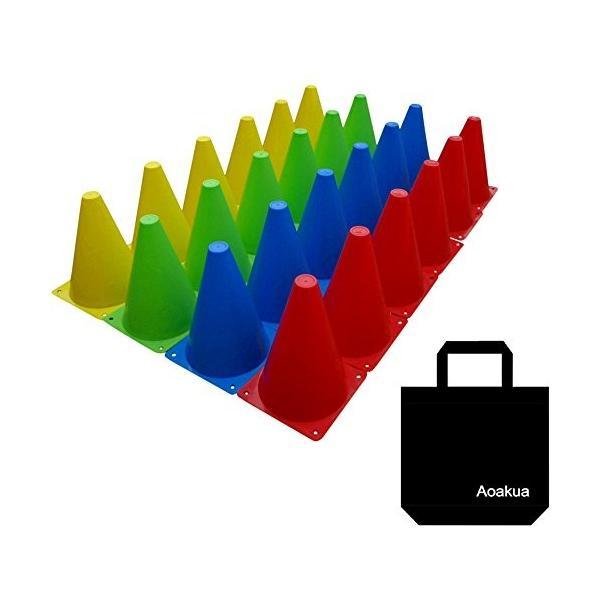 Aoakua 18cm マーカーコーン 全4色 収納袋 セット (24本(全4色-各6個))|ellies-os