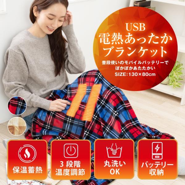  電熱 毛布 電気毛布 電気ひざ掛け 毛布 USBブランケット ひざ掛け 速暖 あったか 肩掛け 洗…