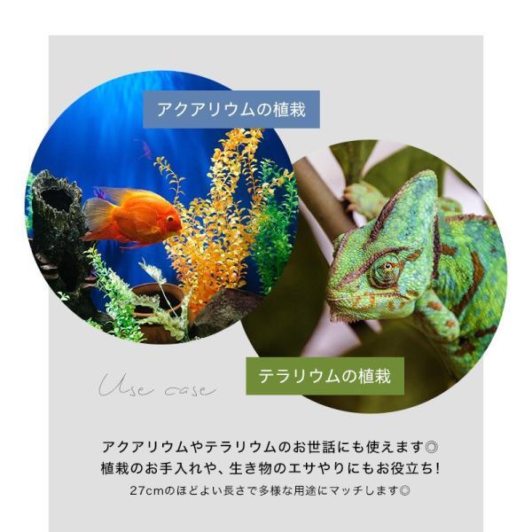 ピンセット ハーバリウム ハイグレード 鏡面 水槽 水草 ロング ステンレス ストレート カーブ 27cm アクアリウム 掃除 熱帯魚 メダカ トリミング elpisstore 06