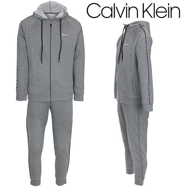 訳あり CK カルバン・クライン セットアップ CALVIN KLEIN メンズ ジップアップ パーカー フーディ スウェット パンツ 上下セット ロゴ ファッション