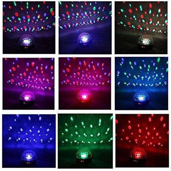 ミラーボール Bluetoothスピーカー USB5V 充電 ステージライト 舞台照明 RGB LED 音楽再生 ワイヤレス ブルートゥース 無線 DF-906|elukshop|02
