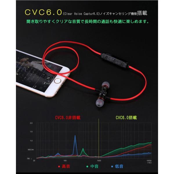 ワイヤレスイヤホン bluetooth イヤホン ブルートゥースイヤホン カナル Bluetooth4.1 ノイズキャンセリング iPhone Android EK-M9BE 90日保証|elukshop|09
