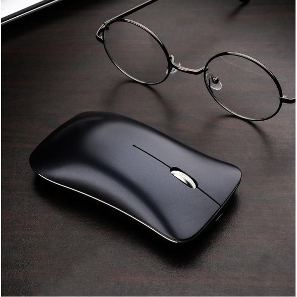 ワイヤレスマウス  マウス Bluetooth 4.0 無線 2.4GHz 両対応 静音 おしゃれ 1600DPI 充電式 電池交換不要 超小型 軽量 光学式 Macbook surface Pro T1 elukshop 02