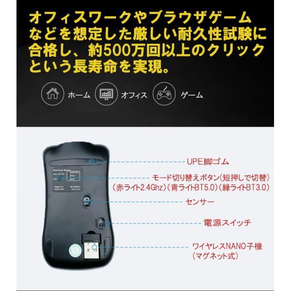 ワイヤレスマウス  マウス Bluetooth 4.0 無線 2.4GHz 両対応 静音 おしゃれ 1600DPI 充電式 電池交換不要 超小型 軽量 光学式 Macbook surface Pro T1 elukshop 13