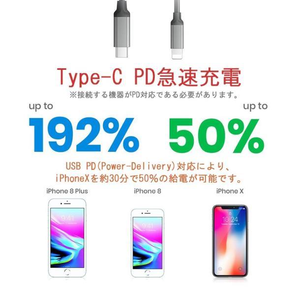 USB Type-C-iPhone充電ケーブル iPhone8 iPhoneX PD Power-Delivery 急速充電 iOS12対応 高品質 1m elukshop 04