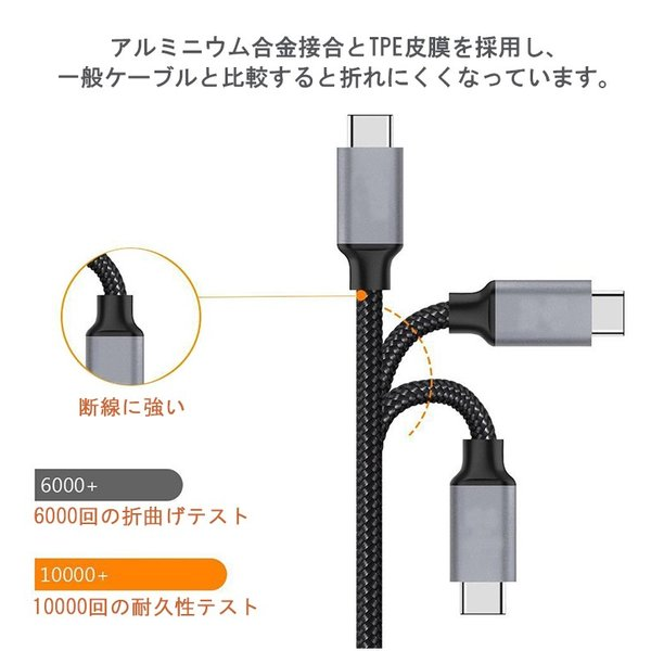 USB Type-C-iPhone充電ケーブル iPhone8 iPhoneX PD Power-Delivery 急速充電 iOS12対応 高品質 1m elukshop 05