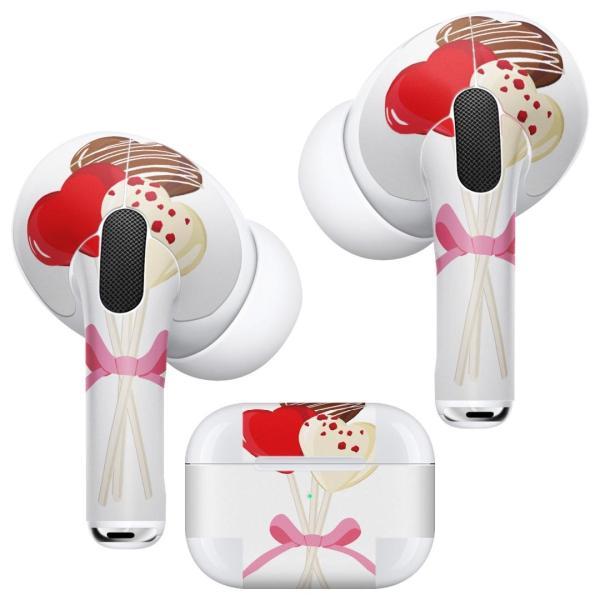 Air Pods Pro 専用 デザインスキンシール 対応 airpodspro エアポッドプロ apple アップル イヤフォン イヤホン  チョコレート お菓子 ハート 015791