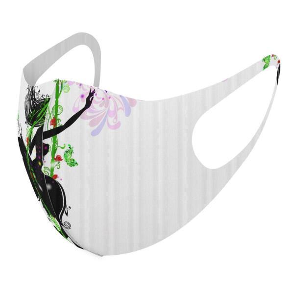 マスク 2枚セット デザイン 洗える ポリエステル メンズ レディース 男性 女性 こども ジュニア 幼児 未就学児 人物 蝶 ブランコ 005399