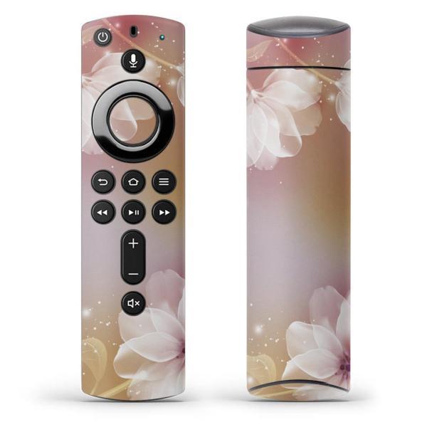 Fire TV Stick 第2世代 ファイヤー tv スティック リモコン専用スキンシール  花 フラワー 紫 001974