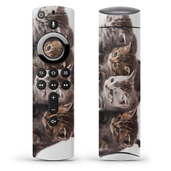 Fire TV Stick 第2世代 ファイヤー tv スティック リモコン専用スキンシール  写真 動物 猫 ねこ 005928
