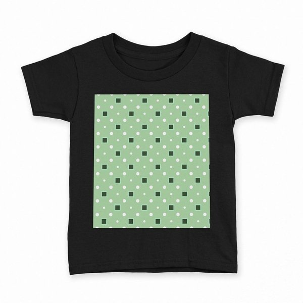 tシャツ キッズ 半袖 黒地 ブラック デザイン 90 100 110 120 130 140 150 Tシャツ ティーシャツ T shirt 水玉 緑 ドット 000100