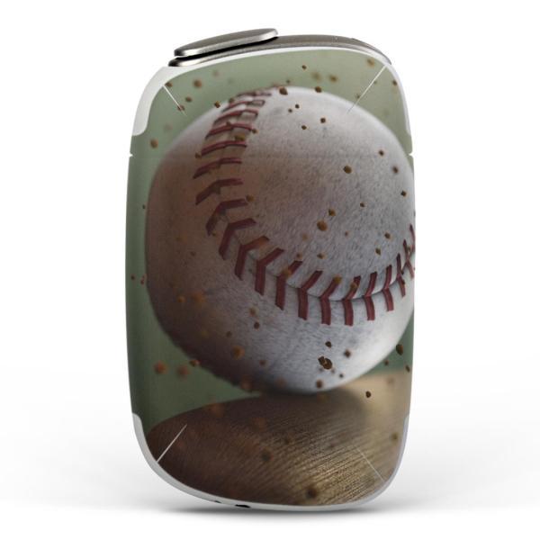 igsticker PloomS 専用 プルームテック ploom tech S デザインスキンシール カバー ケース 保護 フィルム 野球 バット 001610