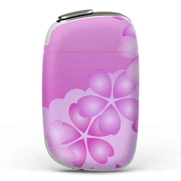 igsticker PloomS 専用 プルームテック ploom tech S デザインスキンシール カバー ケース 保護 フィルム 花 フラワー ピンク 002470