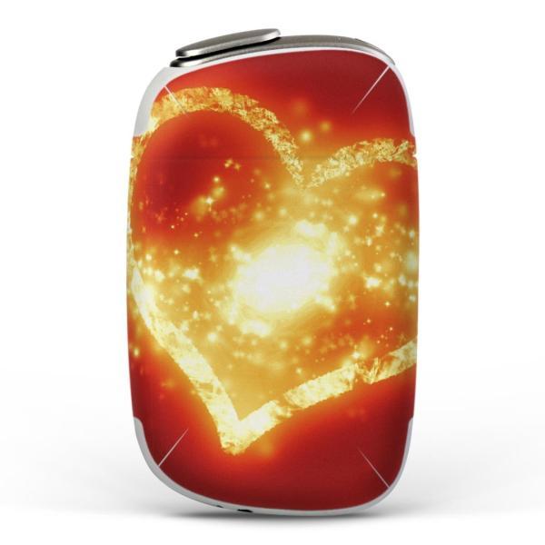 igsticker PloomS 専用 プルームテック ploom tech S デザインスキンシール カバー ケース 保護 フィルム ハート 赤 レッド 005467