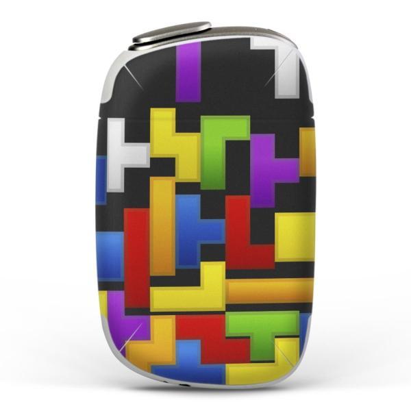 igsticker PloomS 専用 プルームテック ploom tech S デザインスキンシール カバー ケース 保護 フィルム カラフル パズル 模様 ゲーム 007961