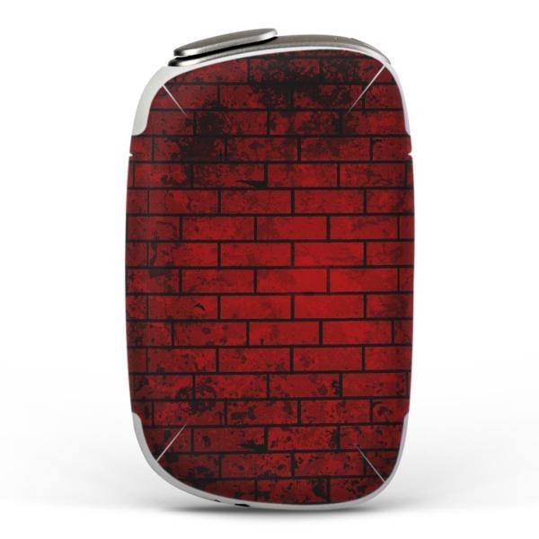 igsticker PloomS 専用 プルームテック ploom tech S デザインスキンシール カバー ケース 保護 フィルム 赤 レッド 黒 ブラック レンガ 008497