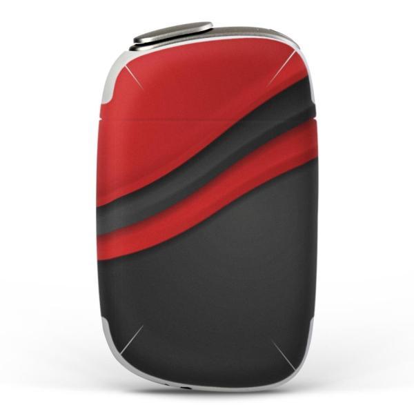 igsticker PloomS 専用 プルームテック ploom tech S デザインスキンシール カバー ケース 保護 フィルム 黒 赤 レッド ブラック 模様 008557