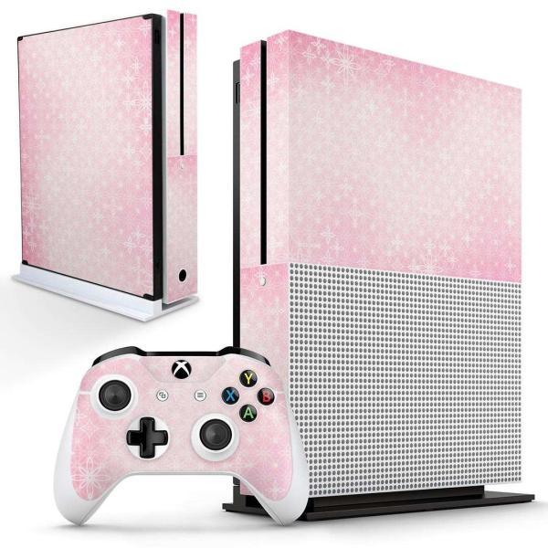 「宅配便専用」igsticker Xbox One S 専用 デザインスキンシール エックスボックス 本体裏表用 コントローラー用  シンプル 模様 ピンク 002412