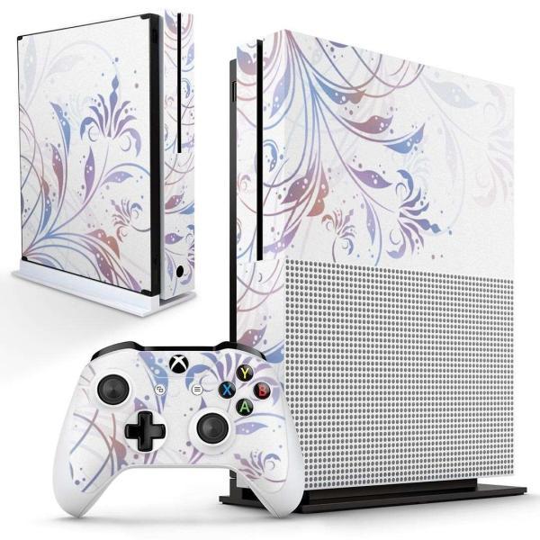 「宅配便専用」igsticker Xbox One S 専用 デザインスキンシール エックスボックス 本体裏表用 コントローラー用  花 白 フラワー 004768