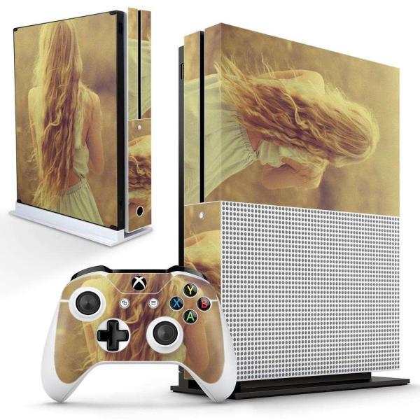 「宅配便専用」igsticker Xbox One S 専用 デザインスキンシール エックスボックス 本体裏表用 コントローラー用  おしゃれ 女性 セクシー 011489