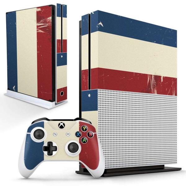 「宅配便専用」igsticker Xbox One S 専用 デザインスキンシール エックスボックス 本体裏表用 コントローラー用  フランス 外国 国旗 011609
