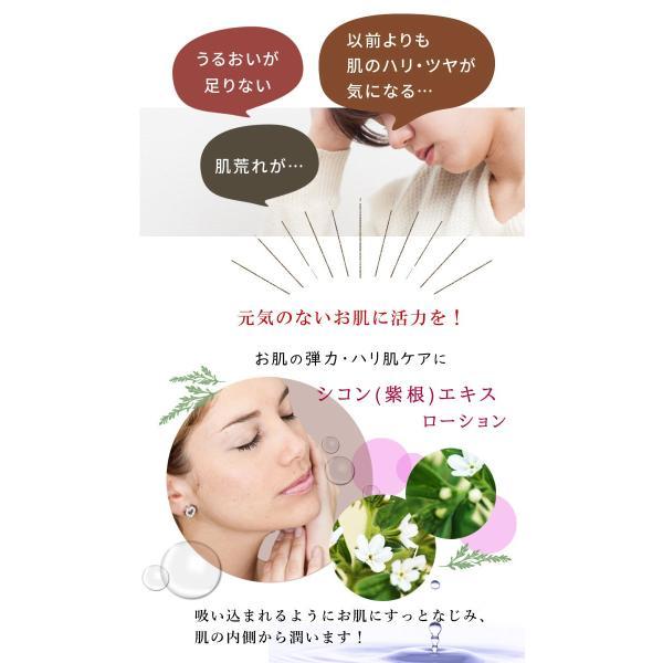 たるみ シワ くすみ 年齢肌 プチプラシリーズ エイジングケア化粧水 シコンローション 無添加コスメ embellir0430 02