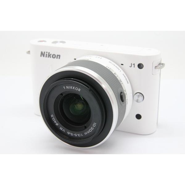 【中古】 【良品】 ニコン Nikon1 J1 標準ズームレンズキット ホワイト