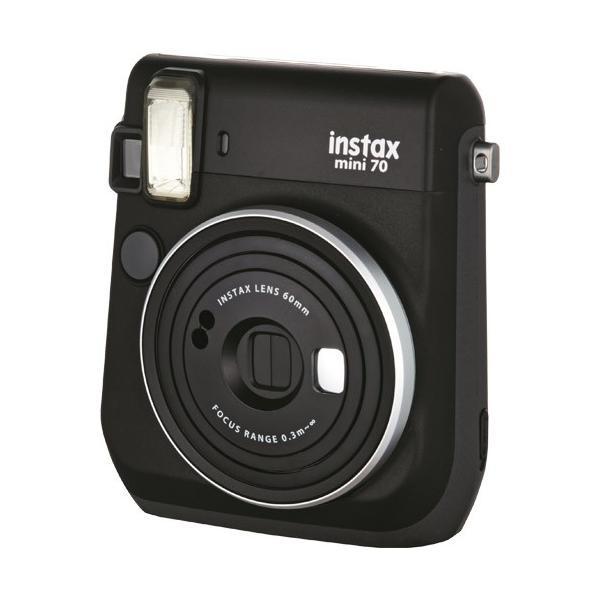 フジフイルム インスタントカメラ instax mini 70N 「チェキ」 ブラックの画像