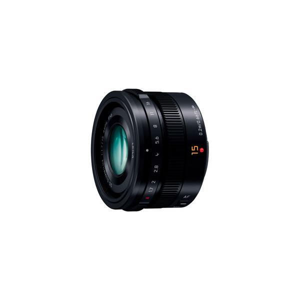 【あすつく】 パナソニック LEICA DG SUMMILUX 15mm/F1.7 ASPH. [H-X015] ブラック