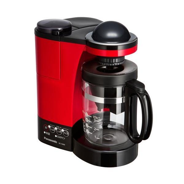 パナソニック ミル付き浄水コーヒーメーカー NC-R400-R レッドの画像