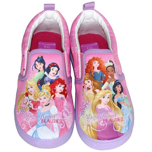 fd8ddfa692f67 Disney ディズニー プリンセススニーカー ピンク シンデレラ・アリエル・ベル・ラプンツェル スリッポン運動靴 ...