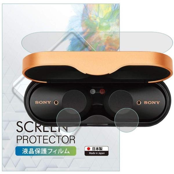 SONY WF-1000XM3 ケース/ボタン 保護 フィルム 指紋防止 気泡防止 日本製 ワイヤレスノイズキャンセリングステレオヘッドセット SONYWF 定型外|emi-direct