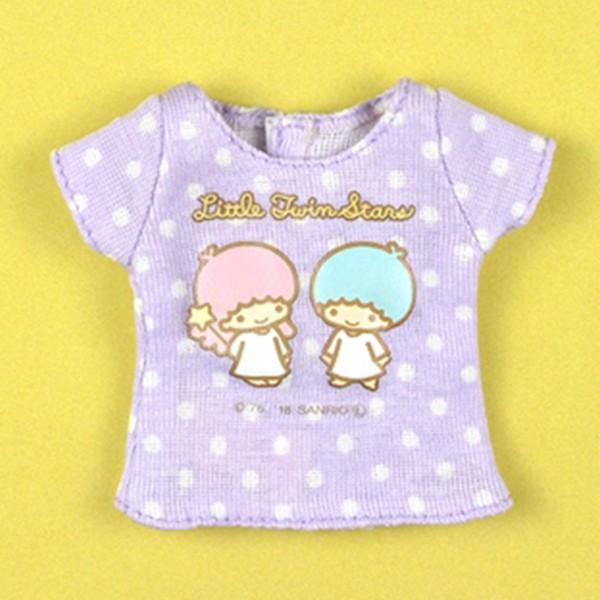 Dear Darling fashion for dolls サンリオキャラクターコラボTシャツ「リトルツインスターズ (キキララ)」1/6 ネオブライス アウトフィット アゾン カットソー