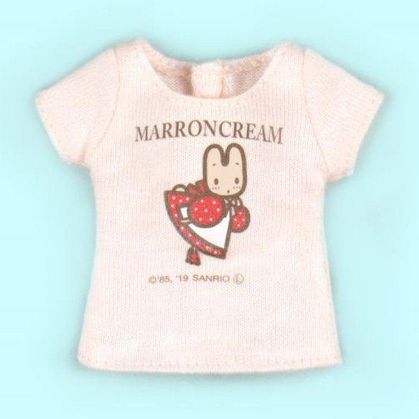 Dear Darling fashion for dolls サンリオキャラクターコラボTシャツ「マロンクリーム」1/6 ネオブライス アウトフィット アゾン カットソー