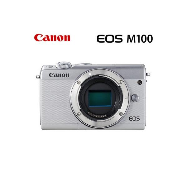 Canon キヤノン ミラーレス一眼 EOS M100 ボディー デジタルカメラ EOSM100WH-BODY ホワイト【80サイズ】