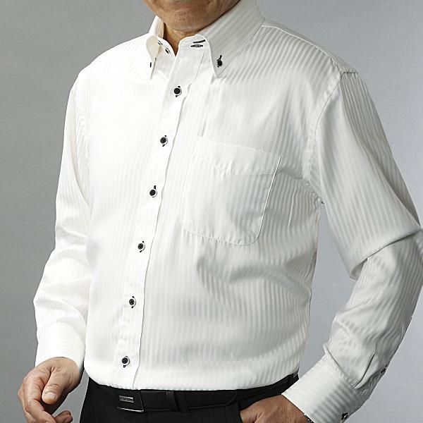 ワイシャツ 長袖 ドレスシャツ シルクタッチ 2枚組|emperormart|06