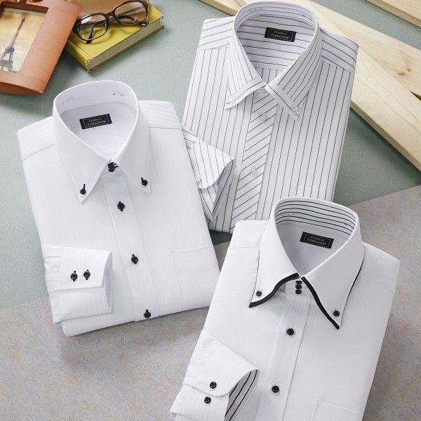 ワイシャツ ホワイト ドレスシャツ 3枚組 emperormart 05