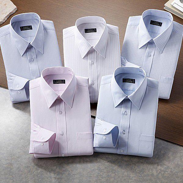 ワイシャツ 長袖 5枚組 カラー系|emperormart|02