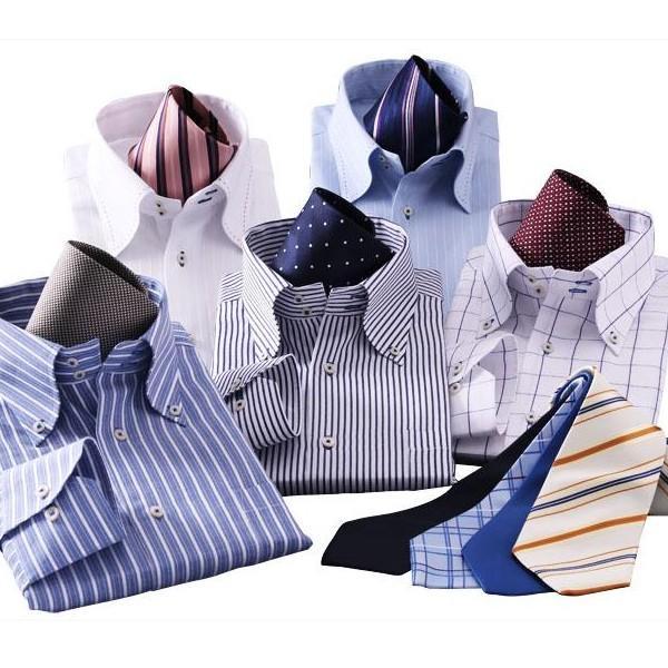 ワイシャツ 長袖 メンズ 14点セット ブルー系|emperormart|05