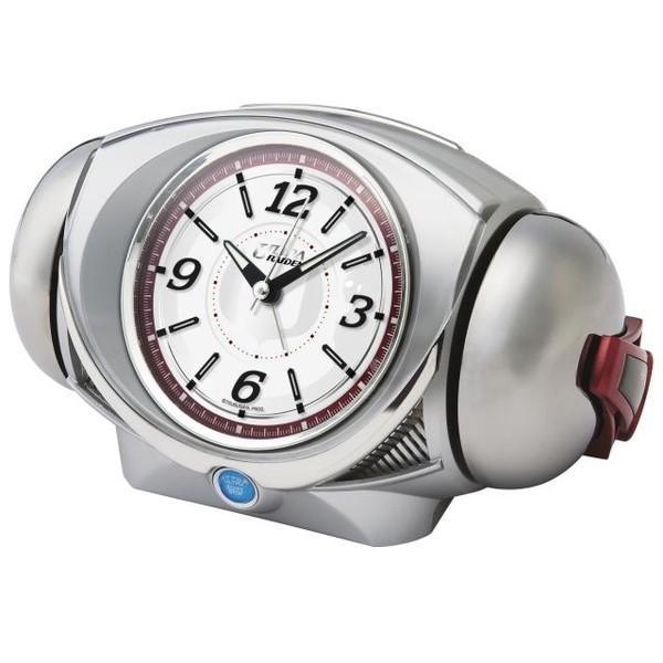 セイコー ウルトラ RAIDEN(ライデン)大音量目覚まし時計 クオーツ ウルトラマン (銀色メタリック塗装) CQ141S|empire-clock